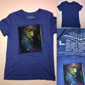 Woman's large lil Wayne blue t shirt from concert